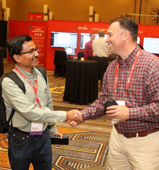 Itron Utility Week Attendees Networking